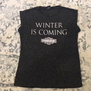 """Game of Thrones """"Winter is Coming"""" T shirt"""